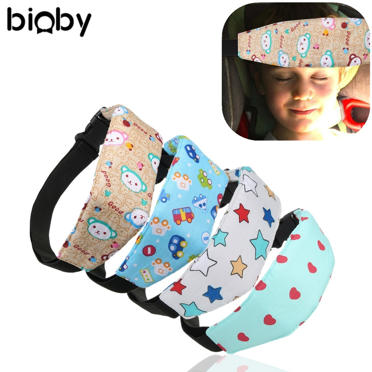 Baby Infant Auto Car Seat Support Belt Safety Sleep Aid Head Holder ...