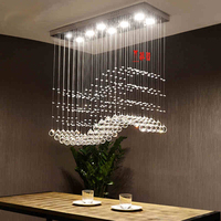 Modern Living Room Lamp LightsWholesale 2017 New Design K9 Crystal Chandelier LED Lamp With Free Shipping