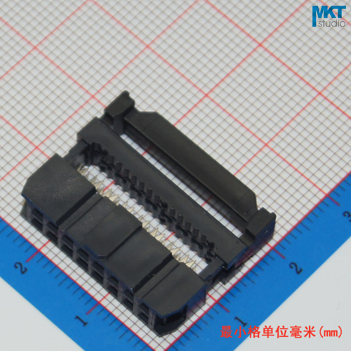 10Pcs Female 2x8 16P 2.54mm Pitch Spacing IDC Box Pin Header Shrouded Connector, For Flat Ribbon Cable