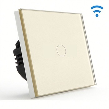 Bseed Wireless Touch Light Switch 1 Gang 3 Way Touch Dimmer With Remote Control Gold Touch Switch Dimmer Eu Uk Us Au 2017 smart home crystal glass panel wall switch wireless remote light switch us 1 gang wall light touch switch with controller