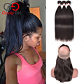 Brazilian Virgin Hair With Closure Straight Hair With Frontal 360 Lace Frontal With Bundle Human Hair Weave Gossip Girl Hair