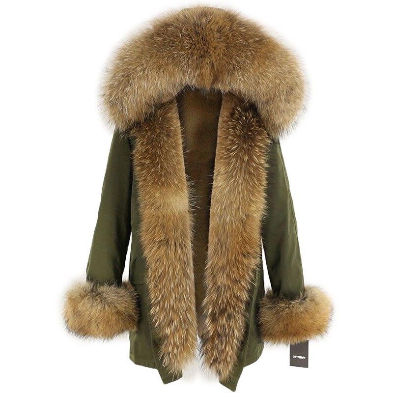 OFTBUY Waterproof Long Parka Winter Jacket Women Real Fur Coat Natural Fox Fur Collar Hood Thick Warm Streetwear Detachable New 103