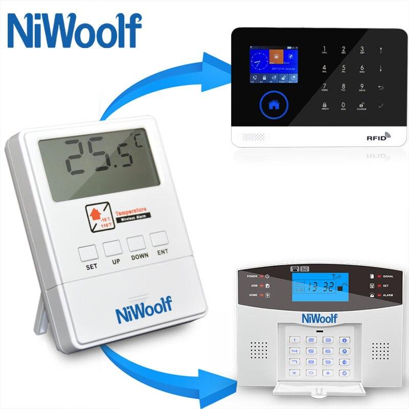 Где купить Беспроводной температурный детектор 433 МГц, для G33 G90B Plus G2B W2B M2B Wifi GSM сигнализация, высокотемпературный диапазон сигнализации