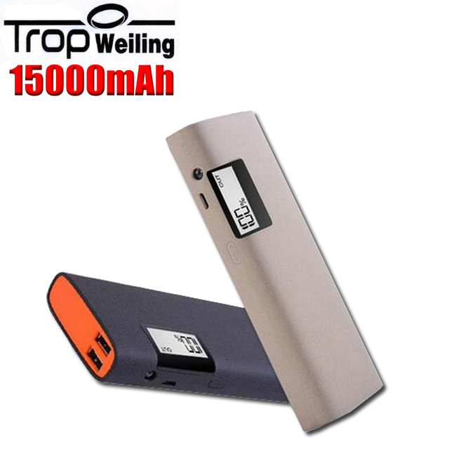 Tropweiling power bank 18650 15000mah portable charger battery bank powerbank external battery for All phones