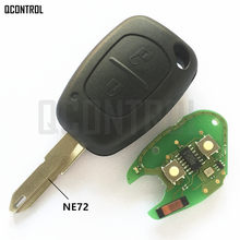 QCONTROL Car Remote Key Fit for Renault VIVARO MOVANO TRAFFIC MASTER KANGOO PCF7946 Chip 433MHZ NE72 Blade(China)