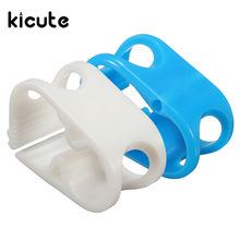 Kicute 5PcsBag Plastic Laboratory Pinch Clamp Chemistry Flow Control Valve For Test TubePipe Holder Office Lab Supplies plastic