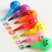 Хос драже карандаши смайлик граффити творческий подарки канцелярские ручка цветов мультфильм