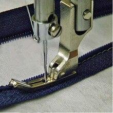 Prensador de máquina de coser industrial pie plano 0,3 prensador cremallera pie # P363 palillo de dientes Delgado acero prensador pie AA7182-2