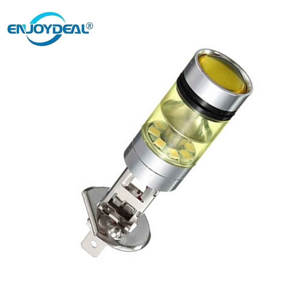 Obedient Universal 2pc/set H1 2828smd Car Drl Fog Light 100w 20led Super Bright Headlight Lamp Bulb Car Indicator Light Yellow Gold Color Lights & Lighting