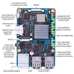 Image 3 - Cpu do núcleo do quadrilátero da placa s rk3288 soc 1.8ghz do tinker de asus sbc, 600mhz Mali T764 gpu, 2gb lpddr3 & 16gb emmc tinkerboards