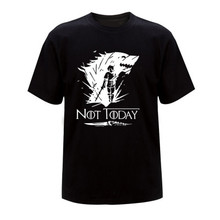 Arya Stark Shirt Game Of Thrones Not Today Tshirt Top Tees Round Neck Short Sleeve Summer Casual Breathable T-shirt