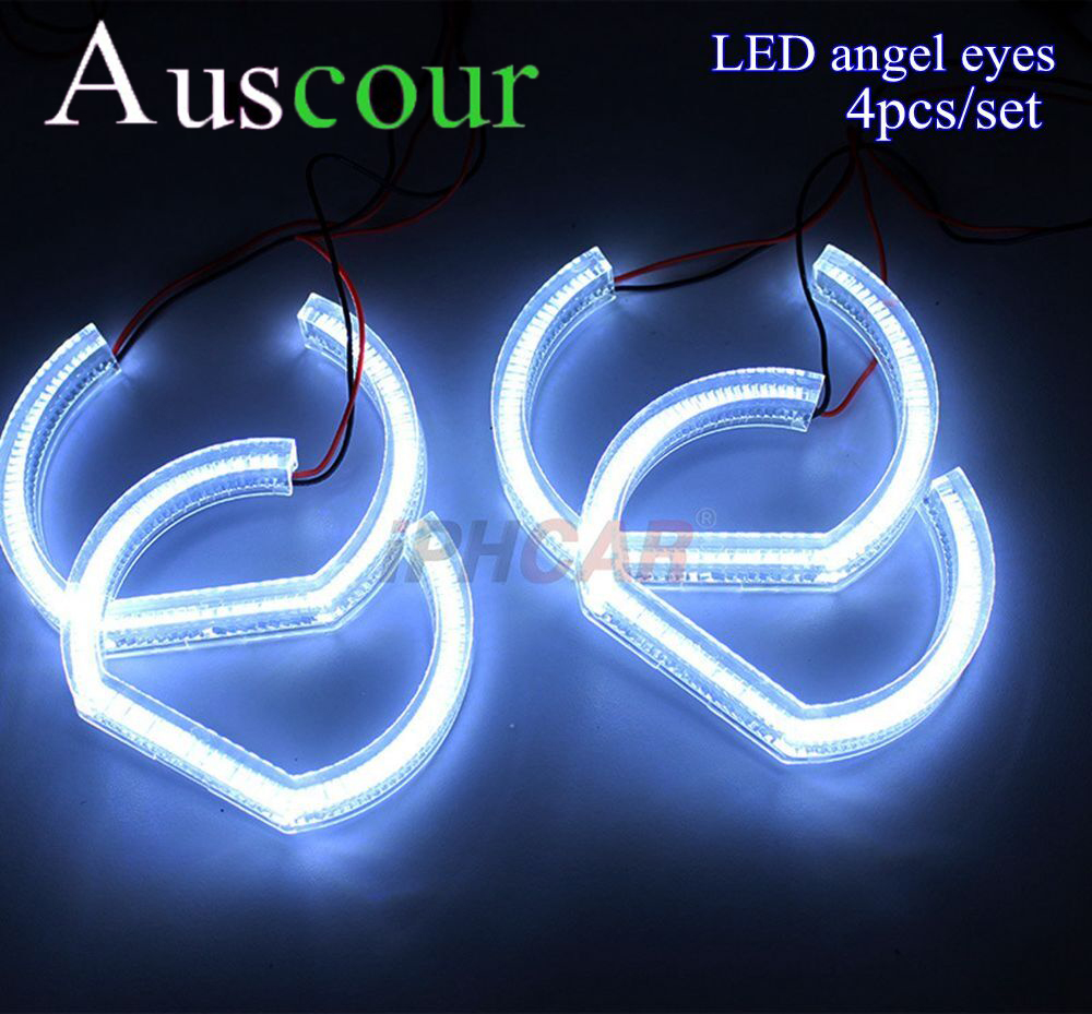 4X LED led angel eyes for BMW E90 E92 LED DRL day running Crystal Angel Eyes Headlights White Dual Turn Signal Halo Rings Modify holy land дневной крем active day cream 250 мл page 1