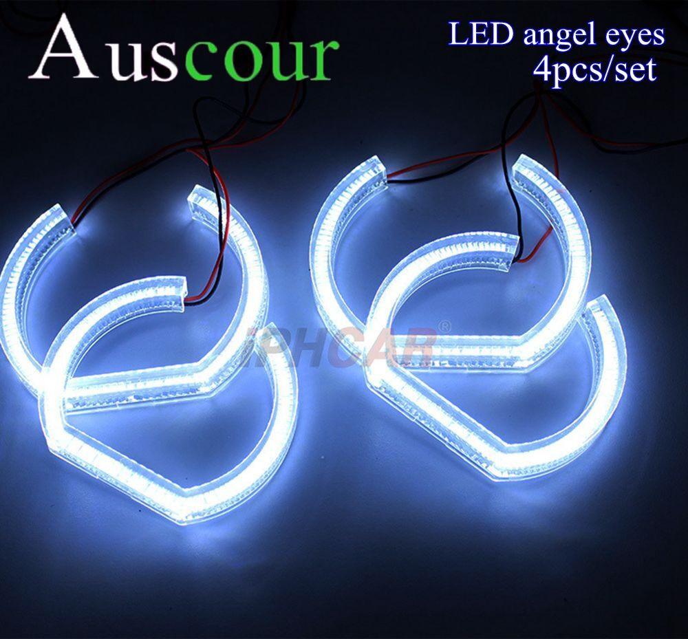 все цены на 4X LED led angel eyes for BMW E90 E92 LED DRL day running Crystal Angel Eyes Headlights White Dual Turn Signal Halo Rings Modify