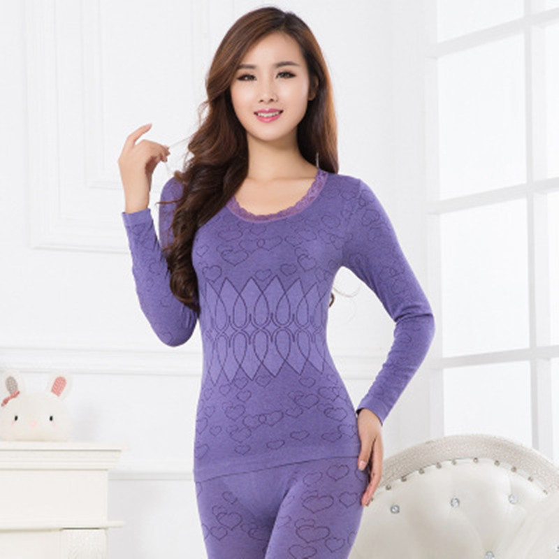 2019 Women Body Shapers For Winter Thermal Underwear Suit Ladies Thermal Underwear Women Clothing Female Long Johns Thermal Silk