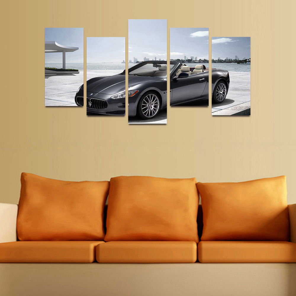 Original Oil Ink Canvas Print World Famous Car Painting On Canvas ...