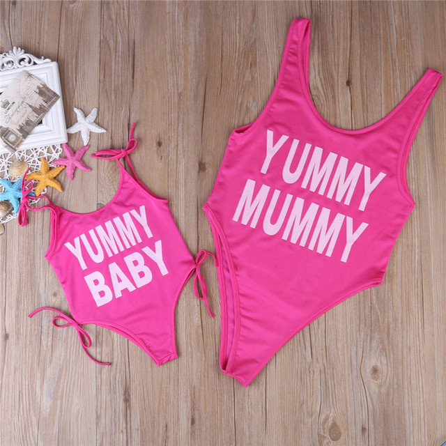 c9cb07a693a9c6 Vrouwen Babybody Swinsuit Badmode Zomer Beachwear Push Up Gevoerde Bikini  Badpak Monokini Mom Baby Wedstrijd Badpak