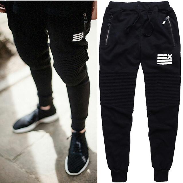 Novo estilo de Calças Dos Homens Treino Bottoms GoldsGym Algodão Aptidão Skinny Calças Suor Calças Pantalones Chandal Hombre Casuais