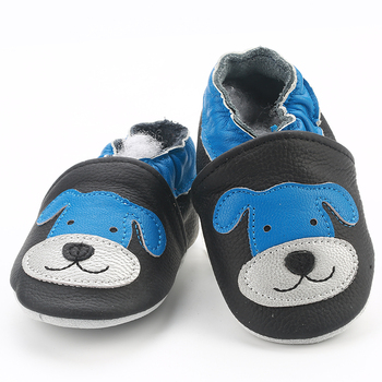[simfamily]Skid-Proof Baby Shoes Soft Genuine Leather Baby Boys Girls Infant Shoes Slippers 0-6 6-12 12-18 18-24 First Walkers 1