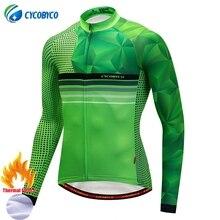Здесь можно купить  Cycobyco Cycling Jersey Winter Fluo Long Sleeve Bike Clothes Thermal Fleece Roupa Ciclismo Invierno Hombre MTB Bicycle Clothing  Cycling