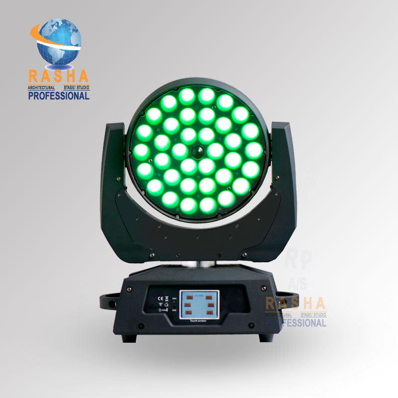 US STOCK 36*15W 5in1 RGBAW Zoom LED Moving Head Wash With Touch Screen LCD Display LED Moving Head Light For DJ Club Party