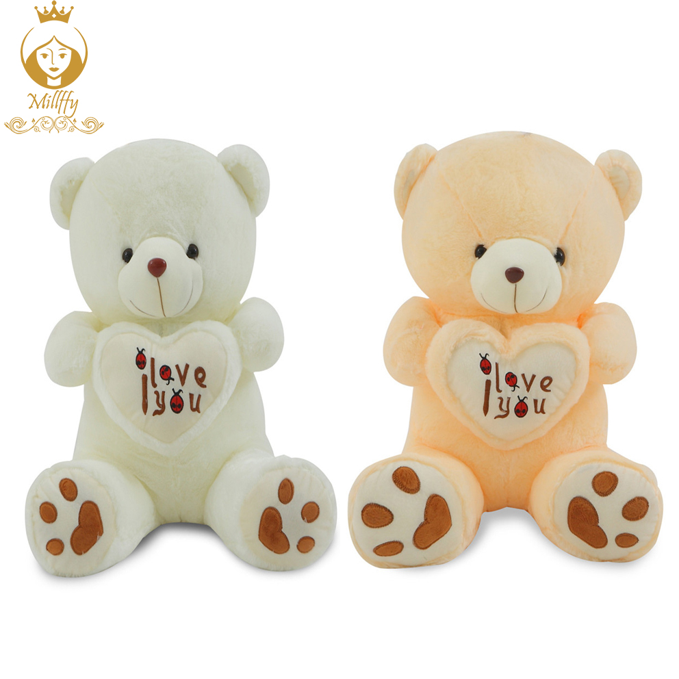 1pc big i love you teddy bear large stuffed plush toy holding love