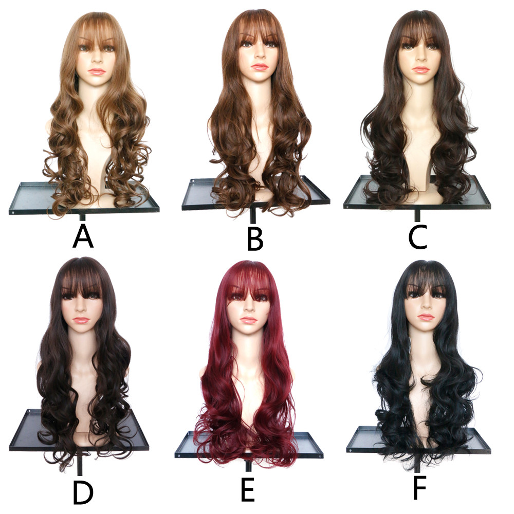 Wavy Curly Long black wigs for women Hair Full Of Peoples Wig Similar to short human hair wigs curly 6523A