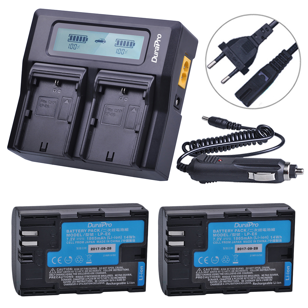 2PC Sanyo cell LP-E6 LP-E6N LP E6 Camera Battery +LCD Quick Charger for Canon EOS 5DS 5D Mark II Mark III 6D 7D 60D 60Da 70D 80D2PC Sanyo cell LP-E6 LP-E6N LP E6 Camera Battery +LCD Quick Charger for Canon EOS 5DS 5D Mark II Mark III 6D 7D 60D 60Da 70D 80D