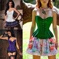 Пастырской стиль женщины сексуальное корсет бюстье клуб ну вечеринку платья Большой размер sml XL XXL