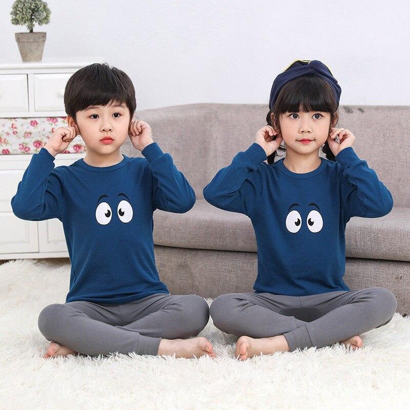 WohltäTig Kinder Thermische Unterwäsche Mädchen Pyjamas Baumwolle Frühling Herbst Jungen Kleidung Set Cartoon Nachtwäsche Mädchen Lange Unterhosen Kinder Homewear GroßEr Ausverkauf