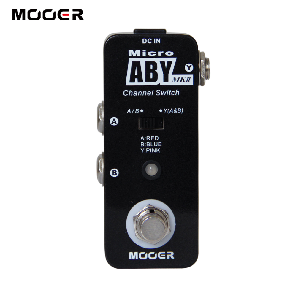 Guitar Effect Pedal/MOOER Micro ABY Channel Switch Pedal/Full metal shell True bypass DC feee shipping new effect pedal mooer flex boost pedal full metal shell true bypass