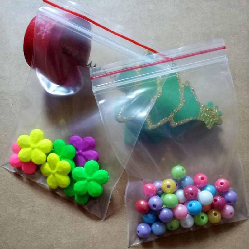 Vário tamanho Transparente Pe resealable ziplock Saco De embalagens de varejo plástico poli saco zipper sacos de roupas Sacos de Jóias (200 pcs)