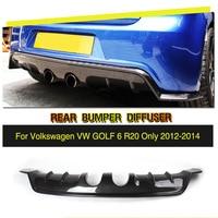 Car Style Carbon Fiber / FRP Car Rear Bumper Lip Diffuser for Volkswagen VW Golf VI MK6 R20 Bumper Only 2010 2013