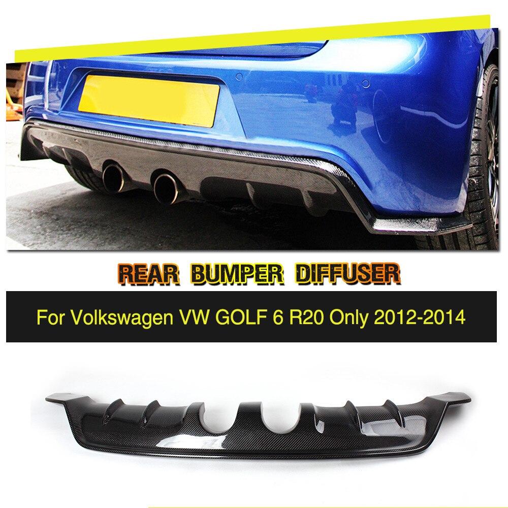 Style de voiture En Fiber De Carbone/FRP Voiture Pare-chocs Arrière Lip Diffuseur pour Volkswagen VW Golf VI MK6 R20 Pare-chocs Seulement 2010-2013