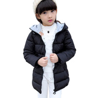 Children Duck Down Parka 2019 Long Warm Kids Girls Coat Winter Jackets For Teenage Girls Cute Baby Girls Clothes Brand Quality
