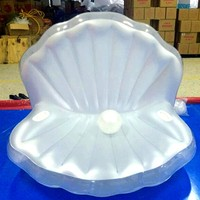170*130cm Seashell style Swim ring Inflatable Floating Row Water seat ring swimming rings
