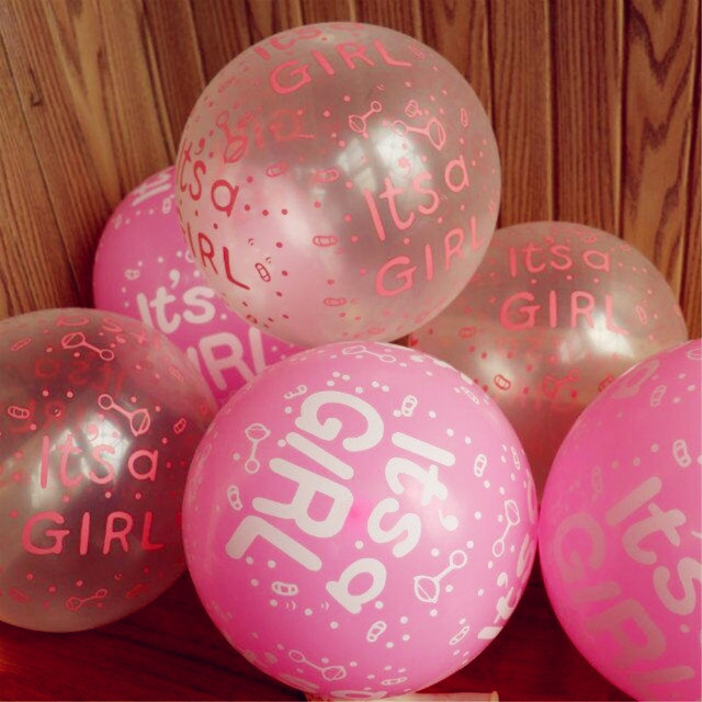 12 inch 28g Round Natural Transparent Pink Balloon Girl First