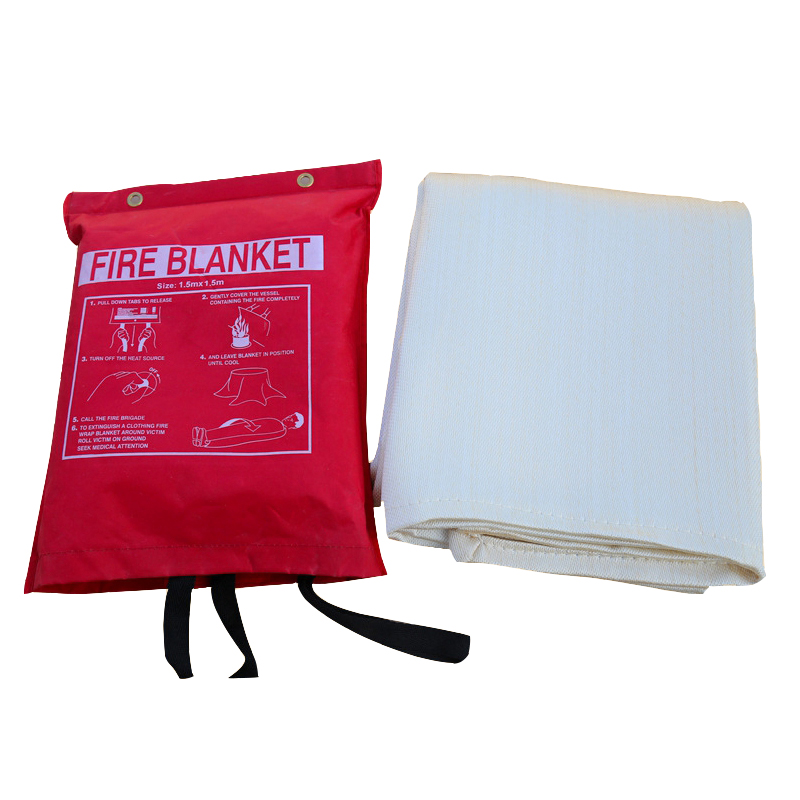 Security Alarm Fire Blanket Fire Equipment Fire Firefighting Shelter Safety Cover Protection 1X1M Fire Emergency Blanket