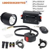 LDDCZENGHUITEC Universal Led Motorcycle Fog Spot Light Upper Low Beam Flash Head Lamp Waterproof Working Bulb