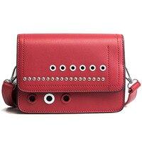 Fashion Mini Flap Bag PU Leather Small Women Shoulder Bag Designer Square Small Messenger Bag Red Black Ladies Cross Body Bags
