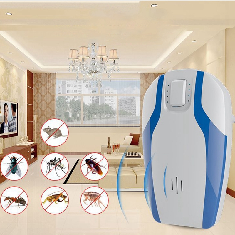 Multifunction Ultrasonic Mosquito Repellent Home Plug in Driver Rat Device  Cockroaches Flies Mice Pests Repellent Pest Control|Repellents| |  - title=