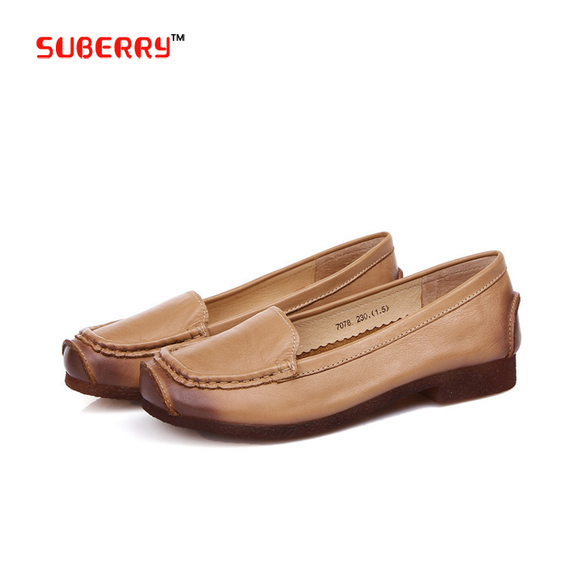 100% Genuine Leather Women Fringe Flats China Brand Handmade Women Casual Pregnant Shoes Leather Moccasin Women Driving Shoes