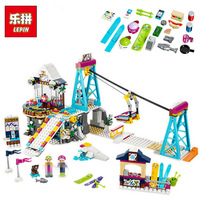 Friends 632pcs Building Blocks Snow Resrot Ski Lift Girls Kids Bricks Compatible With Legoingly 41324 Toys