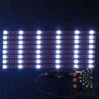 8pcs 440mm LED Backlight Lamps Kit Aluminum Board W Optical Lens Fliter For 46inch TV Monitor