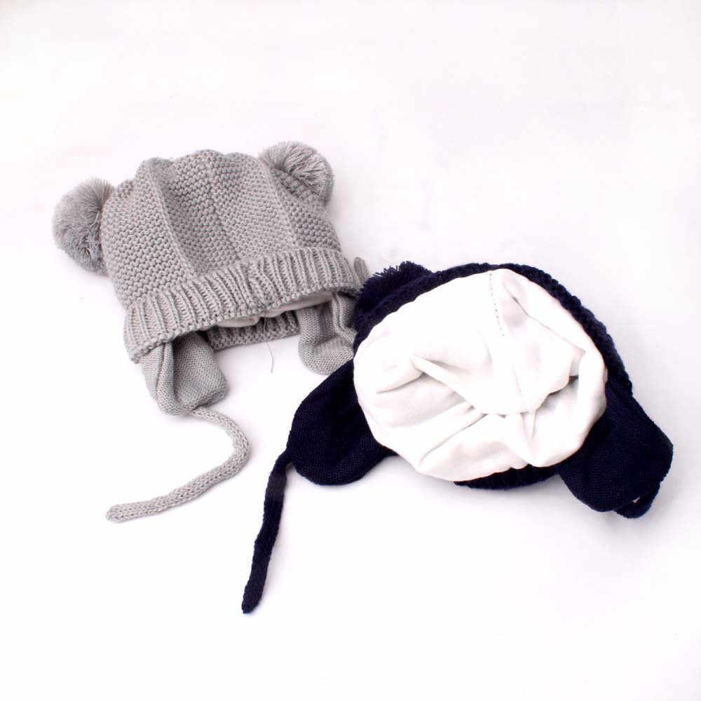 2018 ใหม่แฟชั่นฤดูหนาวน่ารักเด็กวัยหัดเดินเด็กสาวเด็กทารกเด็กทารกฤดูหนาว Crochet อบอุ่นหมวกถักหมวกหมวก stem11