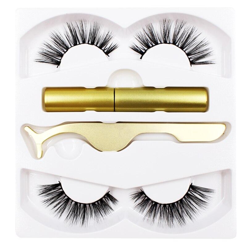 Shozy Magnetic Liquid Eyeliner & Magnetic False Eyelashes & Tweezer Set Waterproof Long Lasting Eyeliner False Eyelashes 2