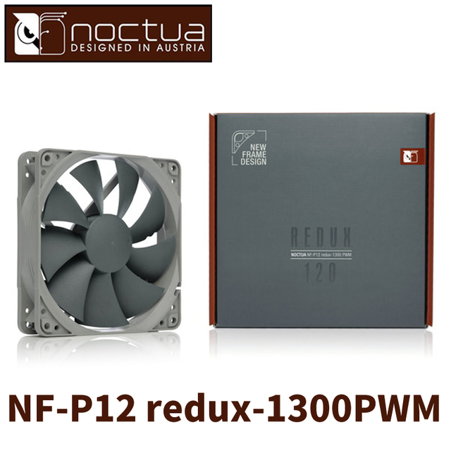 US $27 5 |Noctua NF P12 redux 1300 PWM 4PIN 120mm 12cm CPU or radiator  cooling fans Computer Case CPU heat sink Cooler low noise Fan -in Fans &