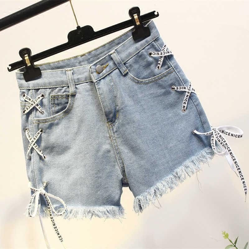 Tcyeek 2019 модные летние женские костюм Для женщин комплект из 2 частей, футболка и дамские джинсовые шорты Повседневные комплекты одежды Костюмы LWL446