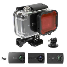 45M Waterproof Case for Xiaomi 4K/ Yi 4K+/Yi Lite/YI Discovery 4K Diving Protective Housing W/Red filter Xiaoyi Accessory