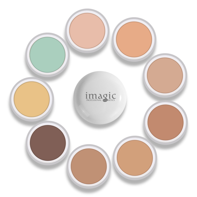 IMAGIC Concealer Cream Natural Herbal Pro Concealer Foundation Cover Face Green Concealer Makeup 10 Color Corrector Concealer