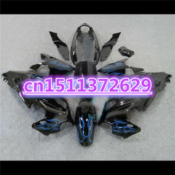 Dor-Fairings for A GSX750F 600F Katana 1997-2005 GSX 600F 97-05 Fairing blue flame black GSX 600F 97-05 for SUZUKI D image